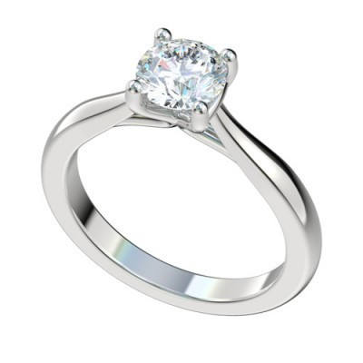 platinum diamond solitaire engagement rings pwrr1010hc - Solitaire Wedding Rings