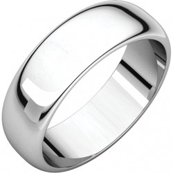 6mm half round Platinum wedding bands