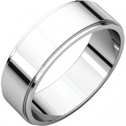 6mm Flat Edge Platinum wedding bands