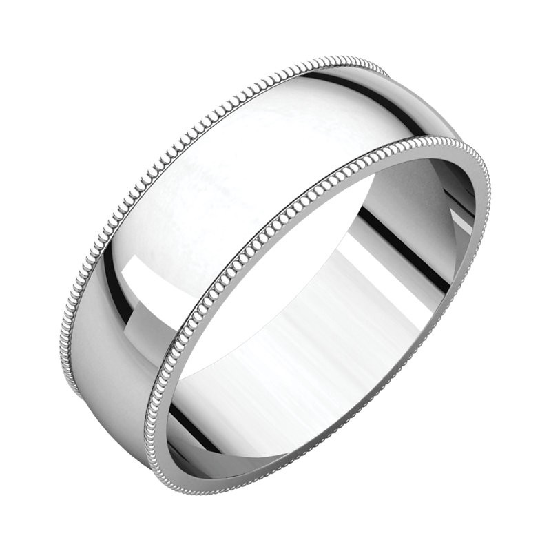 silver p bands over in plated wedding ring band comfort yellow sterling platinum milgrain fit gold