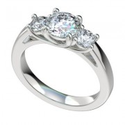 Three Stone Platinum Diamond Engagement Ring