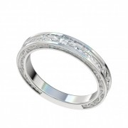 Vintage Platinum Wedding Band with Vine Design with Vine Design PWRW1014HC