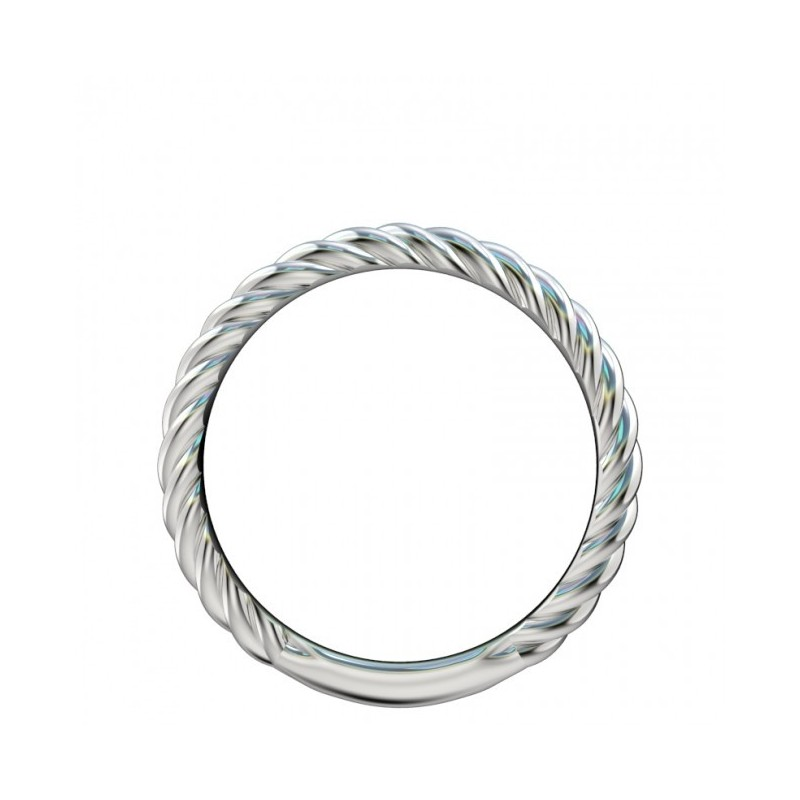 Rope Design Bands: Vintage Platinum Wedding Band With Rope Design With Rope