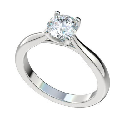 Platinum Diamond Solitaire Engagement Rings PWRR1021HC