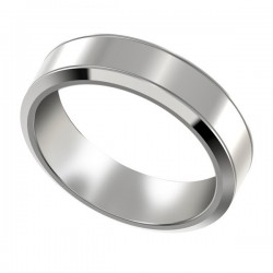 Men's Platinum Wedding Band with Beveled Edges 6mm PWRM1008W6HC