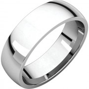 6mm half round Platinum wedding band (medium weight)