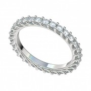 Platinum Eternity Trellis Diamond Band with Shared Prong Setting
