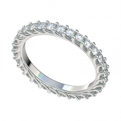 Platinum Eternity Trellis Diamond Band with Shared Prong Setting PWR_W1006HC_Plat