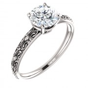 Vintage Solitaire Platinum Engagement Ring PWR_71618STPlat