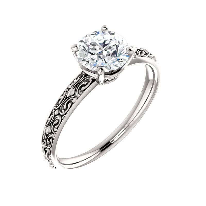 Vintage Solitaire Platinum Engagement Ring PWR_71618STPlat