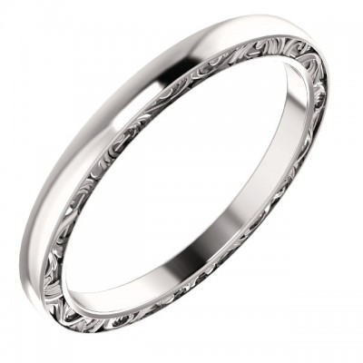 Sculptural Platinum Wedding Band PWR_51247ST_Plat