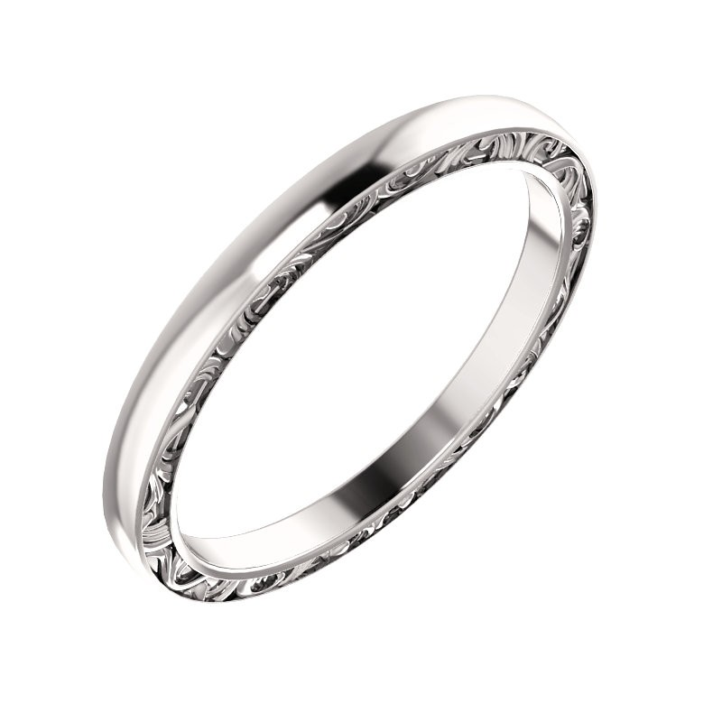 Sculptural platinum wedding band pwr51247stplat junglespirit Gallery