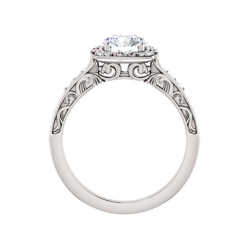 sculptural halo platinum engagement ring pwr 121981st plat