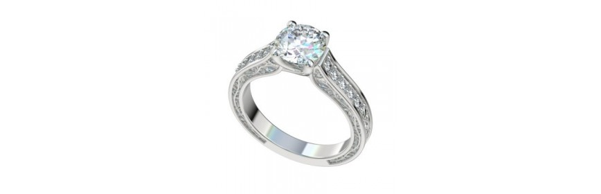 Trellis Platinum Engagement Rings
