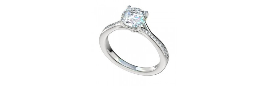 Split Platinum Engagement Rings