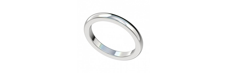 Women's Plain Platinum Wedding Bands