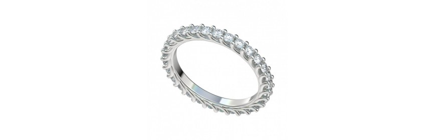 Women's Eternity Platinum Wedding Bands