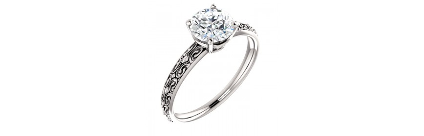 Vintage & Sculptural Platinum Engagement Rings